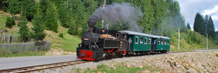 Con las locomotoras de vapor a través de Transilvania